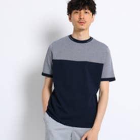 タケオ キクチ TAKEO KIKUCHI 2toneニットTシャツ[ メンズ Tシャツ ] (ネイビー)