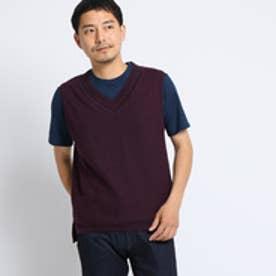 タケオ キクチ TAKEO KIKUCHI リネンニットベスト[ メンズ ベスト ] (ボルドー)