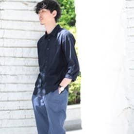 タケオ キクチ TAKEO KIKUCHI リネンレーヨンストレッチ7分袖シャツ[ メンズ シャツ ストレッチ ] (ネイビー)