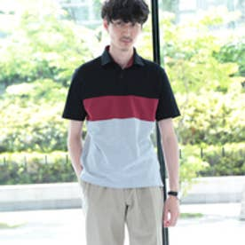 タケオ キクチ TAKEO KIKUCHI カラー切替ポロシャツ [ メンズ ポロシャツ ボーダー ] (ブラック)