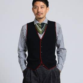 タケオ キクチ TAKEO KIKUCHI 【 PNJ 】パイピングニットベスト [ メンズ ベスト ] (ブラック)