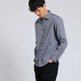タケオ キクチ TAKEO KIKUCHI スクールストライプシャツ [ メンズ シャツ ストライプ ] (ネイビー)