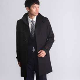 ザ ショップ ティーケー THE SHOP TK 【蓄熱保温】ラミネートボンディング衿コート (ブラック)