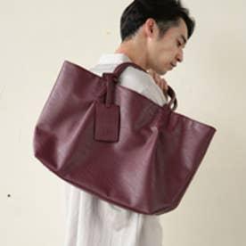 ティーケー タケオ キクチ tk.TAKEO KIKUCHI 【WEB限定】レザー調トートバッグ (ボルドー)