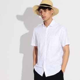 ティーケー タケオ キクチ tk.TAKEO KIKUCHI カモフラジャガード半袖シャツ (ホワイト)