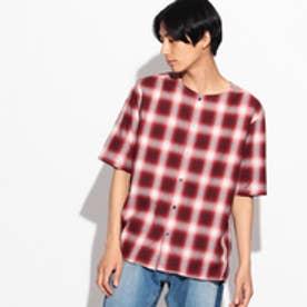 ティーケー タケオ キクチ tk.TAKEO KIKUCHI ツイルオンブレーチェックシャツ (レッド)