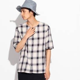 ティーケー タケオ キクチ tk.TAKEO KIKUCHI ツイルオンブレーチェックシャツ (チャコールグレー)