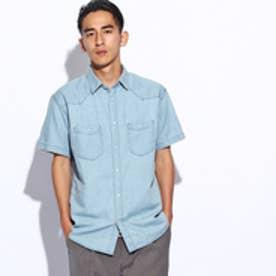 ティーケー タケオ キクチ tk.TAKEO KIKUCHI ウェスタンデニム半袖シャツ (ブルー)