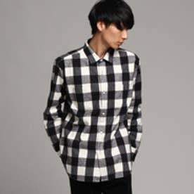 ティーケー タケオ キクチ tk.TAKEO KIKUCHI アムンゼン起毛ブロックチェックシャツ (ブラック)