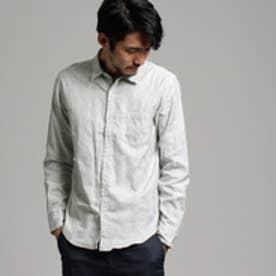 ティーケー タケオ キクチ tk.TAKEO KIKUCHI カモフラジャガードストライプシャツ (ライトグレー)