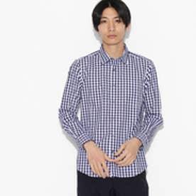 ティーケー タケオ キクチ tk.TAKEO KIKUCHI ギンガムチェックシャツ (ネイビー)