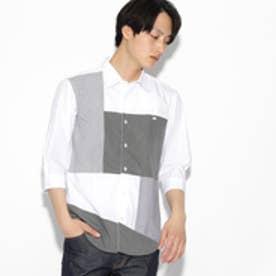 ティーケー タケオ キクチ tk.TAKEO KIKUCHI パッチワーク7分袖シャツ (ホワイト)
