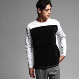 ティーケー タケオ キクチ tk.TAKEO KIKUCHI ベロアコンビTシャツ (ブラック)