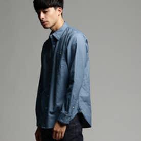 ティーケー タケオ キクチ tk.TAKEO KIKUCHI シャンブレーネルシャツ (ライトブルー)