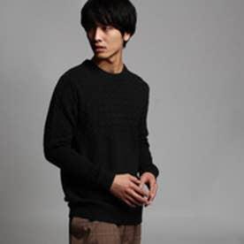 ティーケー タケオ キクチ tk.TAKEO KIKUCHI ケーブルプルオーバーニット (ブラック)
