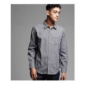 ティーケー タケオ キクチ tk.TAKEO KIKUCHI THERMOLITE(R)起毛チェックシャツ (ブラック×ホワイト)