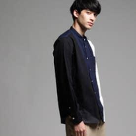 ティーケー タケオ キクチ tk.TAKEO KIKUCHI ブロードパレットバンドカラーシャツ (ネイビー)