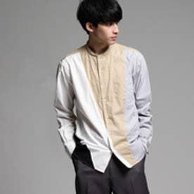 ティーケー タケオ キクチ tk.TAKEO KIKUCHI ブロードパレットバンドカラーシャツ (ベージュ)