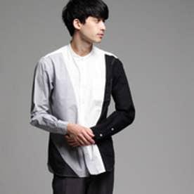 ティーケー タケオ キクチ tk.TAKEO KIKUCHI ブロードパレットバンドカラーシャツ (ホワイト)