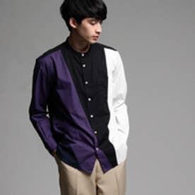 ティーケー タケオ キクチ tk.TAKEO KIKUCHI ブロードパレットバンドカラーシャツ (ブラック)