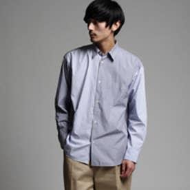 ティーケー タケオ キクチ tk.TAKEO KIKUCHI ストライプオーバーサイズシャツ (ブルー)
