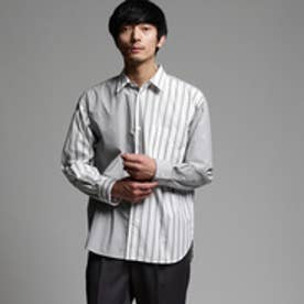 ティーケー タケオ キクチ tk.TAKEO KIKUCHI ストライプオーバーサイズシャツ (ブラック)