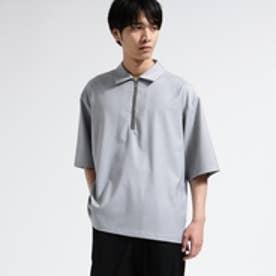 ティーケー タケオ キクチ tk.TAKEO KIKUCHI ハーフジップ ストレッチシャツ (グレー)