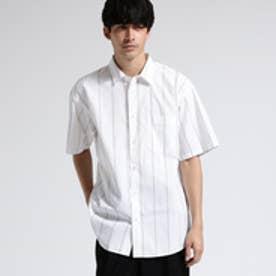 ティーケー タケオ キクチ tk.TAKEO KIKUCHI ストライプオーバーシャツ (ホワイト)