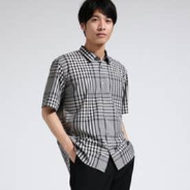 ティーケー タケオ キクチ tk.TAKEO KIKUCHI ビッグチェック半袖シャツ (ネイビー)
