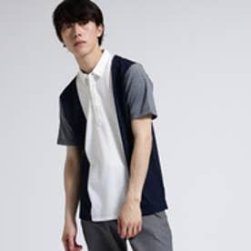 ティーケー タケオ キクチ tk.TAKEO KIKUCHI ストライプ切替ポロシャツ (ホワイト)