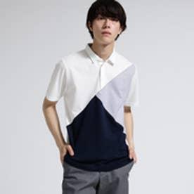 ティーケー タケオ キクチ tk.TAKEO KIKUCHI パッチワークカノコポロシャツ (ホワイト)