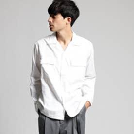 ティーケー タケオ キクチ tk.TAKEO KIKUCHI コットンリヨセルオープンカラーシャツ (オフホワイト)