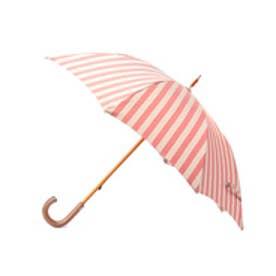 アンタイトル UNTITLED Pradelle ストライプ長傘(晴雨兼用) (レッド)