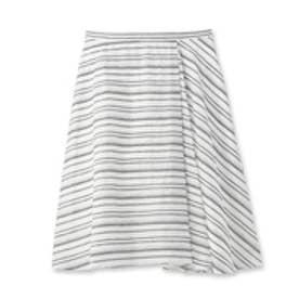 アンタイトル UNTITLED [L]ライトボーダースカート (ホワイト)