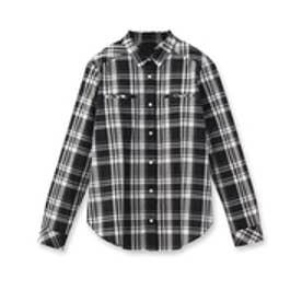 アンタイトル UNTITLED マドラスチェックシャツ (ブラック)