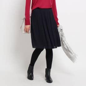 アンタイトル UNTITLED [L]ラフィネジョーゼット消しプリーツスカート (ブルー系)