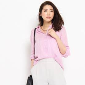 アンタイトル UNTITLED [L]〔洗える〕Safilin リネンシャツ (ピンク)