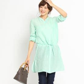 アンタイトル UNTITLED 〔洗える〕リネンチュニックシャツ (ライトグリーン)
