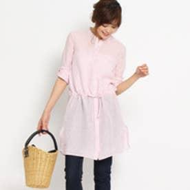 アンタイトル UNTITLED 〔洗える〕リネンチュニックシャツ (ピンク)