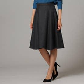 アンタイトル UNTITLED ウールジョーゼットスカート (チャコールグレー)