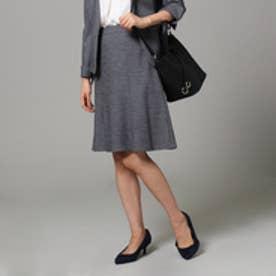 アンタイトル UNTITLED ウール混台形スカート (ダークグレー)