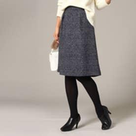 アンタイトル UNTITLED ツイードスカート (チャコールグレー)