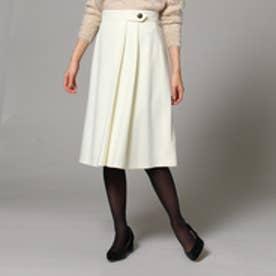 アンタイトル UNTITLED [L]ボタン×プリーツミディ丈スカート (オフホワイト)