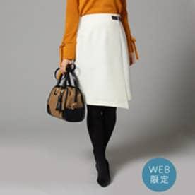 アンタイトル UNTITLED ワンタックベルテッドスカート (オフホワイト)