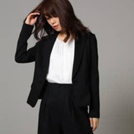 アンタイトル UNTITLED 【洗える】ジャージテーラードジャケット (ブラック)