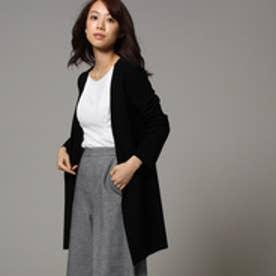 アンタイトル UNTITLED ◆【洗える】トリアセドライクロスロングジャケット (ブラック)