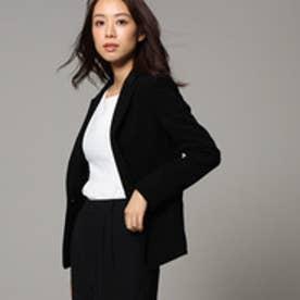 アンタイトル UNTITLED 【洗える】トリアセドライクロステーラードジャケット (ブラック)