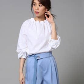 アンタイトル UNTITLED 【洗える】小鳥刺繍 スモックシャツ (ホワイト)