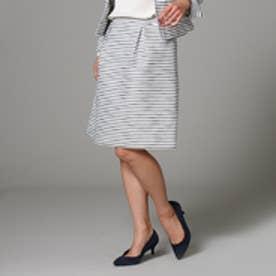アンタイトル UNTITLED [L]【洗える】ファンシーボーダースカート (オフホワイト)