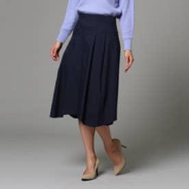 アンタイトル UNTITLED 【洗える】ネオストレッチタイプライタースカート (ネイビー)